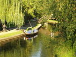 Luebbenau: canal with boat