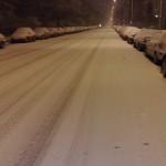 Snow falling in Prenzlauer Berg