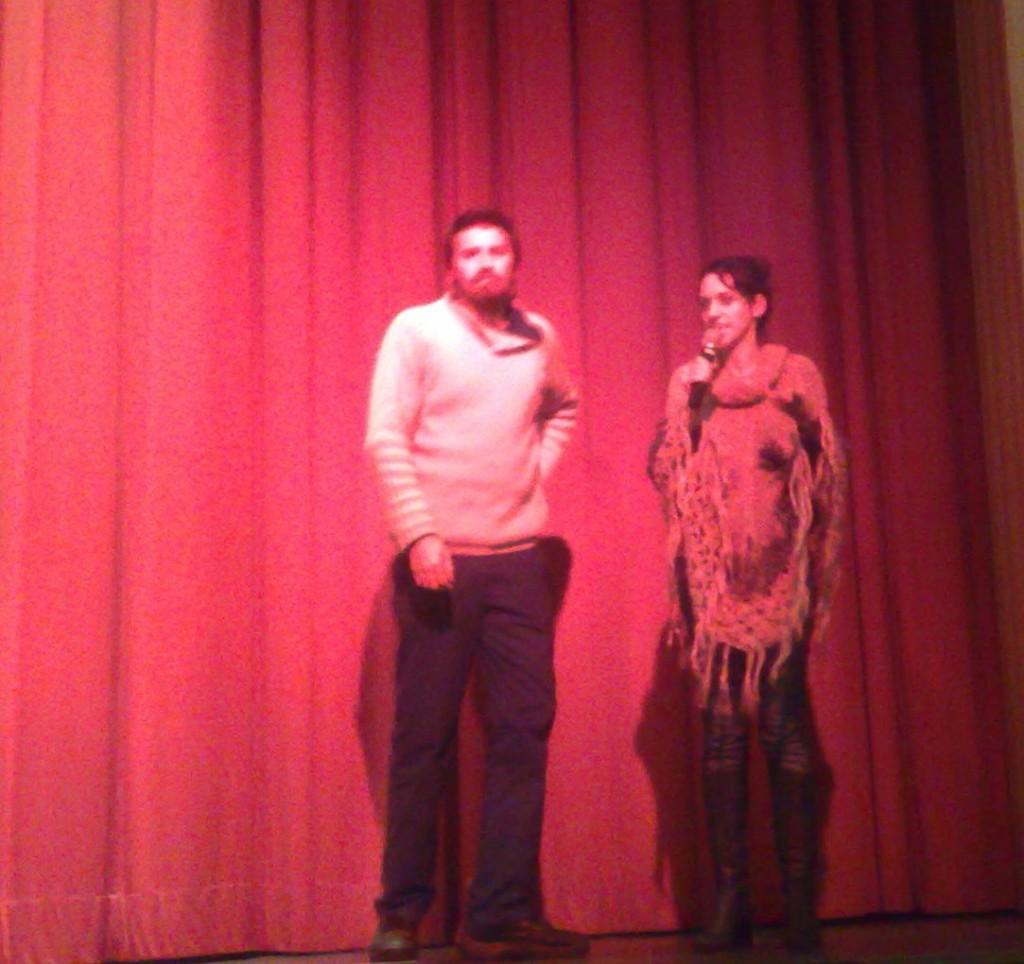 """""""Gigante"""" - director Adrian Biniez and actress Leonor Svarcass"""