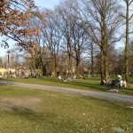 Gatherings at the lawn of Volkspark Friedrichshain, Berlin